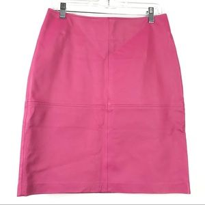 Newport News Pink Leather Lined Pencil Skirt 6